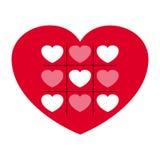 Valentin ` s Tageskarte Lizenzfreies Stockbild