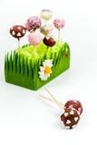 Valentin tårtapop Arkivbild