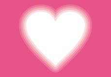 Valentin-Tagesrosa-Herzvignette Stockbild