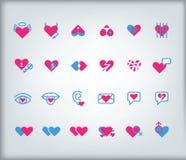 Valentin uppsättning för dagsymbol Arkivfoton
