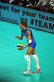 Valentina arrighetti. The italian volleyball player valentina arrighetti in action with the national team in a world cup match stock photo