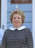 Valentina Matvienko Chairman av rådet av federation av den från den ryska federationen federala enheten Royaltyfria Bilder