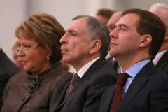 Valentina Matviyenko, Ilya Klebanov, Dmitry Medved Royalty Free Stock Image