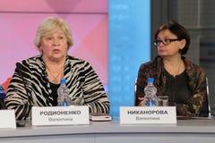 Valentina Rodionenko y Valentina Nikanorova Fotos de archivo libres de regalías