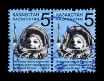Valentina Tereshkova, 1. Frau im Raum, sowjetischer Astronaut, Kasachstan, circa 2013, Stockbilder