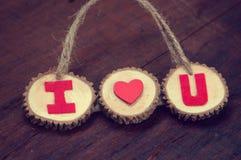 Valentinbakgrund, älskar jag dig meddelandet Royaltyfri Fotografi