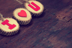 Valentinbakgrund, älskar jag dig meddelandet Royaltyfri Bild