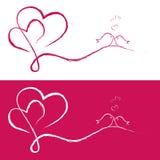 Valentinbakgrund Vektor Illustrationer