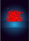 Valentinbakgrund för många trevlig hjärtor Arkivfoton