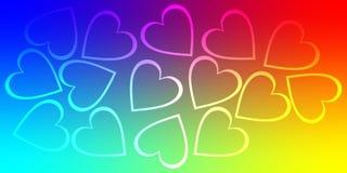 Valentinbakgrundshjärta, valentindagförälskelse stock illustrationer