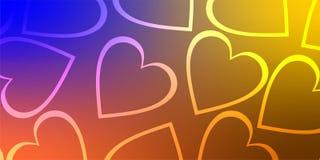 Valentinbakgrundshjärta, valentindagförälskelse vektor illustrationer