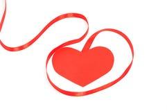 Valentinband med hjärtor Arkivfoto