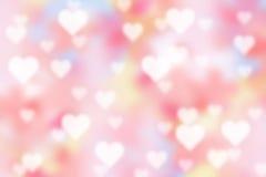 Valentinbokehbakgrund arkivfoto