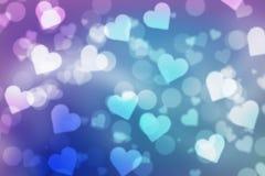 Valentinbokehbakgrund royaltyfri bild