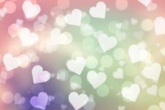 Valentinbokehbakgrund royaltyfri fotografi