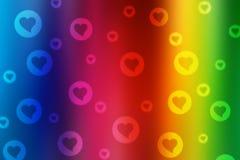 Valentinbokehbakgrund royaltyfri foto