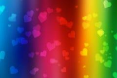 Valentinbokehbakgrund arkivbild