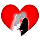 valentinbröllop Arkivfoto