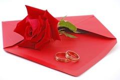 valentinbröllop Royaltyfria Bilder