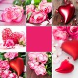 Valentincollage Arkivbild