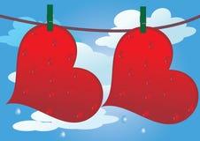 Valentindag vektor illustrationer