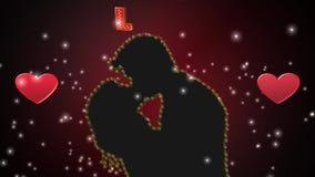 Valentindag, animering stock video