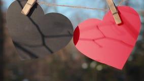 Valentindag, dag för valentin` s, förälskelse lager videofilmer