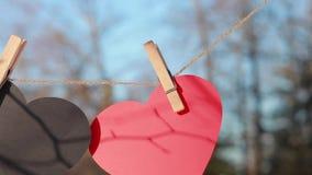 Valentindag, dag för valentin` s, förälskelse stock video