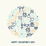 Valentindag- och bröllopsymboler Royaltyfria Bilder
