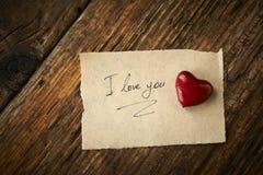 Valentindag, röd hjärta Royaltyfri Fotografi