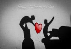 Valentindag - skuggakonst Arkivbild