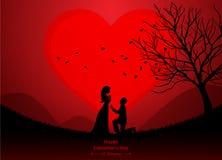 valentindag som gifta sig Arkivbild
