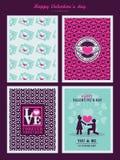 Valentindagbakgrund för inbjudankort Royaltyfria Bilder