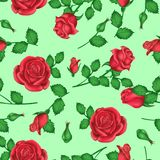 Valentindagbakgrund med rosor med ljust - gröna skuggor för garnering stock illustrationer