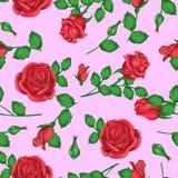 Valentindagbakgrund med rosor med rosa toner för garnering vektor illustrationer