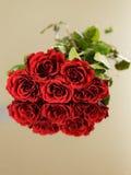 Valentindagberöm med rosor Arkivfoto