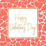 ValentindagCoral Greeting kort för instagram stock illustrationer