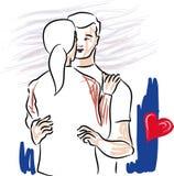 Valentindagen, älskar jag dig Royaltyfri Bild