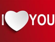 Valentindagen älskar jag dig hjärta Arkivfoto