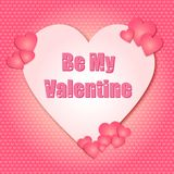 Valentindagen är min Valentine Hearts royaltyfri illustrationer