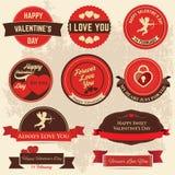 Valentindagetikett Royaltyfri Illustrationer