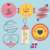 Valentindagetikett Stock Illustrationer