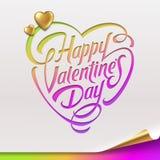 Valentindaghälsningen undertecknar stock illustrationer