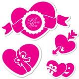 Valentindaghjärta. Jag älskar dig tecknet Arkivbild