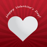Valentindaghjärta med ljusa strålar. Royaltyfria Bilder
