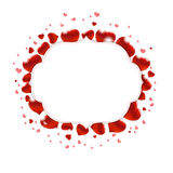 Valentindagillustration med röda hjärtor Arkivfoto