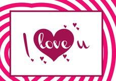 Valentindagillustrationer och typografibeståndsdelar Arkivbilder