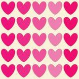 Valentindagillustrationer och typografibeståndsdelar Royaltyfri Foto