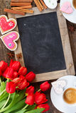 Valentindagkaffe royaltyfria foton