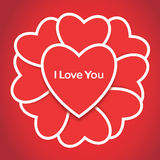 Valentindagkort Arkivbild
